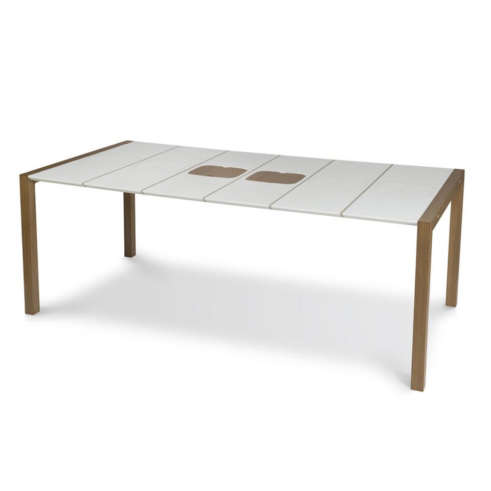 Tavolo Da Giardino Legno Bianco.Tavolo Da Giardino Sunday 190 Cm Giunti Bianchi Lin Bianco
