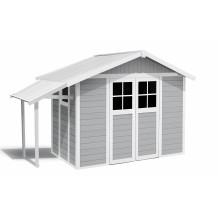 Capanno da giardino Lodge 7,5 m² grigio chiaro