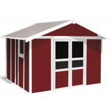 Capanno da giardino Basic Home 11 m² Rosso