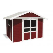 Capanno da giardino Basic Home 7,5 m² Rosso