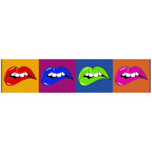 Quadro decorativo murale DECORAZIONE LIP'S WARROL