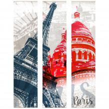 Quadro decorativo murale DECORAZIONE PARIGI I MONUMENTI