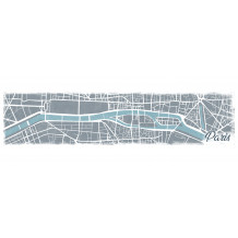Quadro decorativo murale MAPPA DI PARIGI