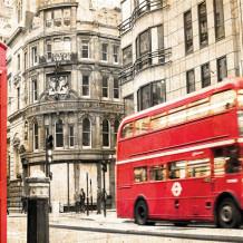 Parete decorativa Element 3D London bus