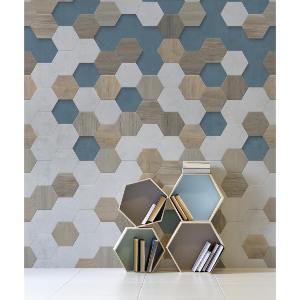 Piastrelle Decorative Per Tavoli rivestimento element 3d piastrella esagonale graphik